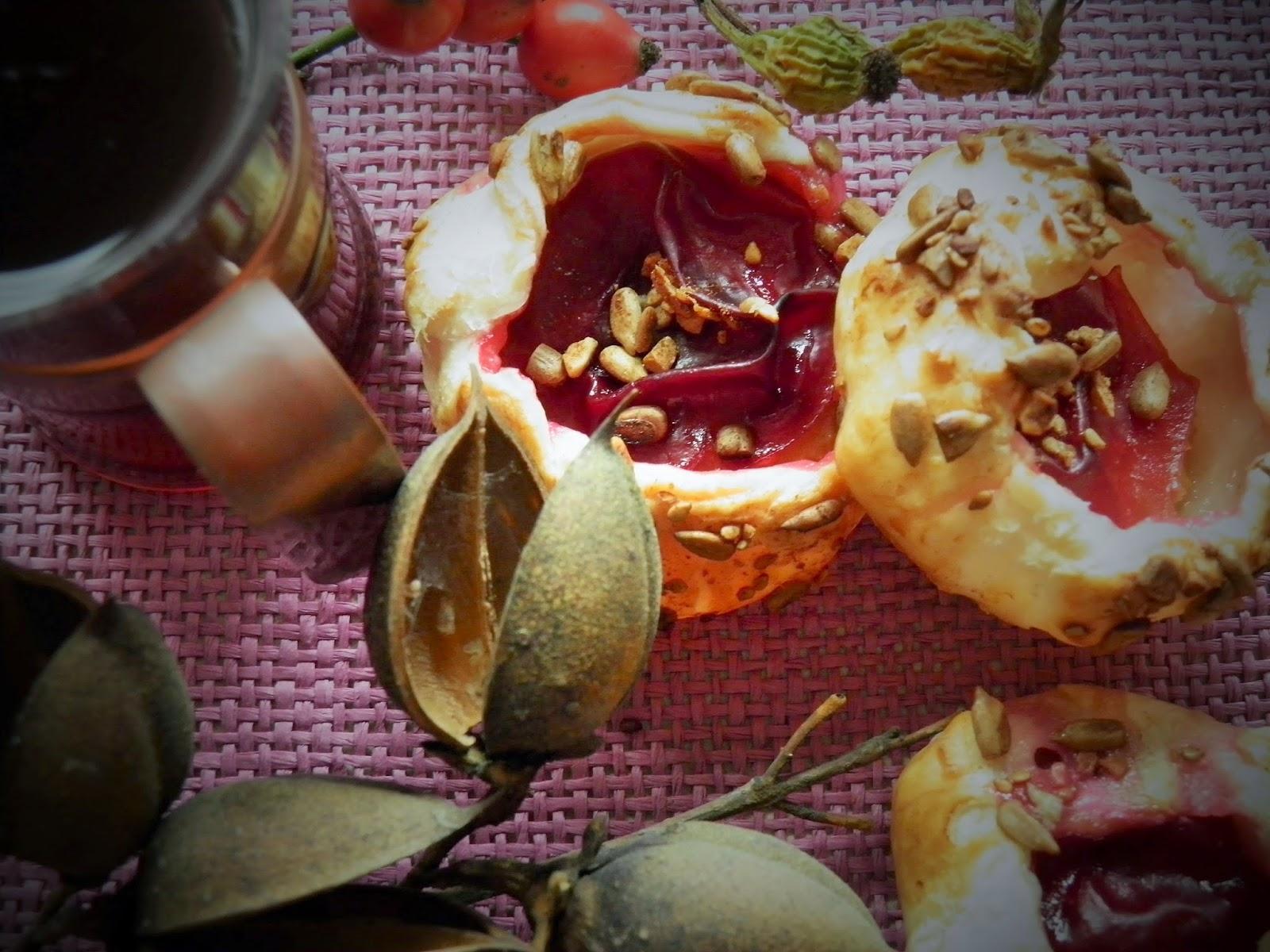 Ciasteczka ze śliwką i cynamonem