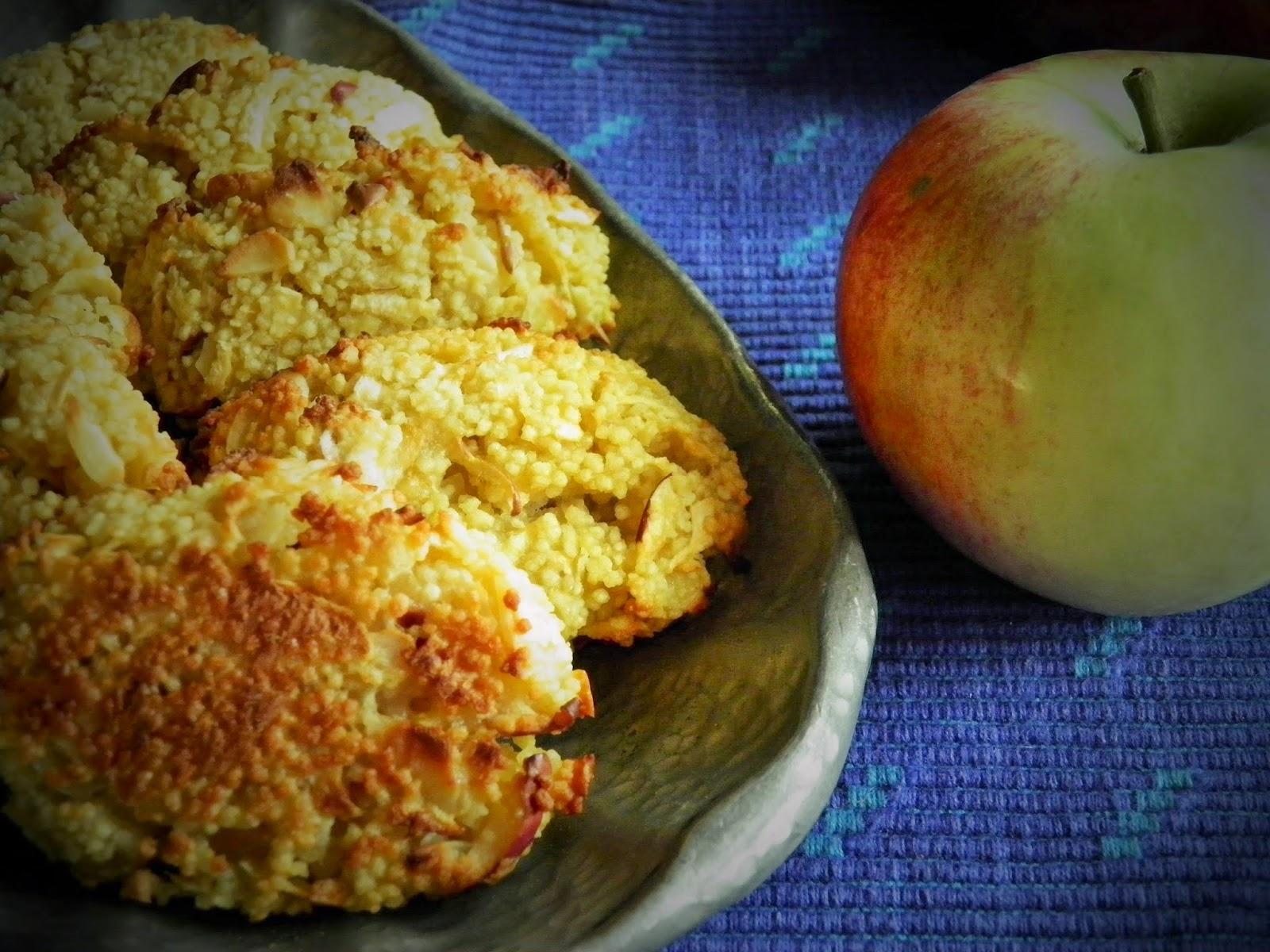 Jabłkowe ciasteczka z kaszy kuskus