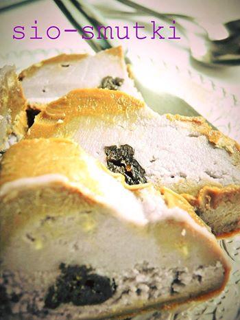 Kremowa rolada czekoladowo-śliwkowa