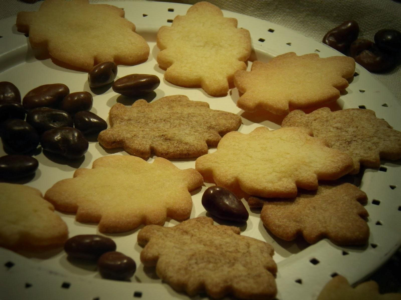 Kruche listki kawowo-waniliowe