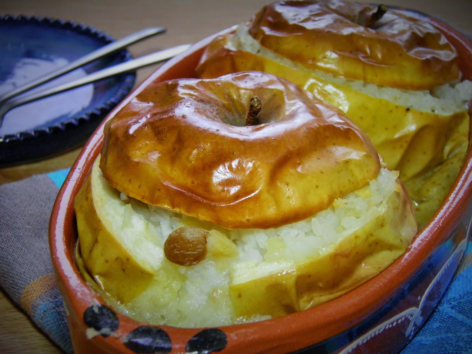 Pieczone jabłka z ryżem