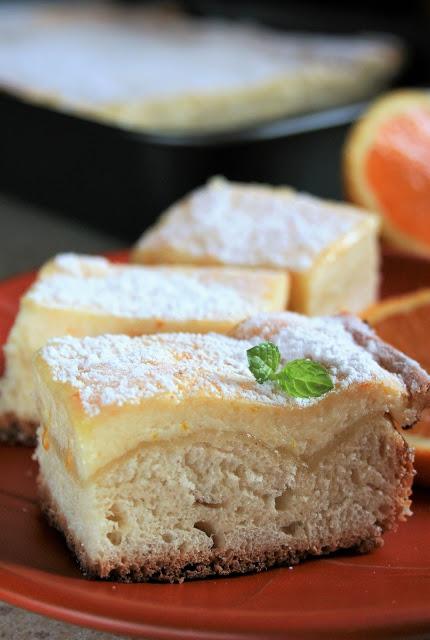 Placek drożdżowy z serem i skórką pomarańczową