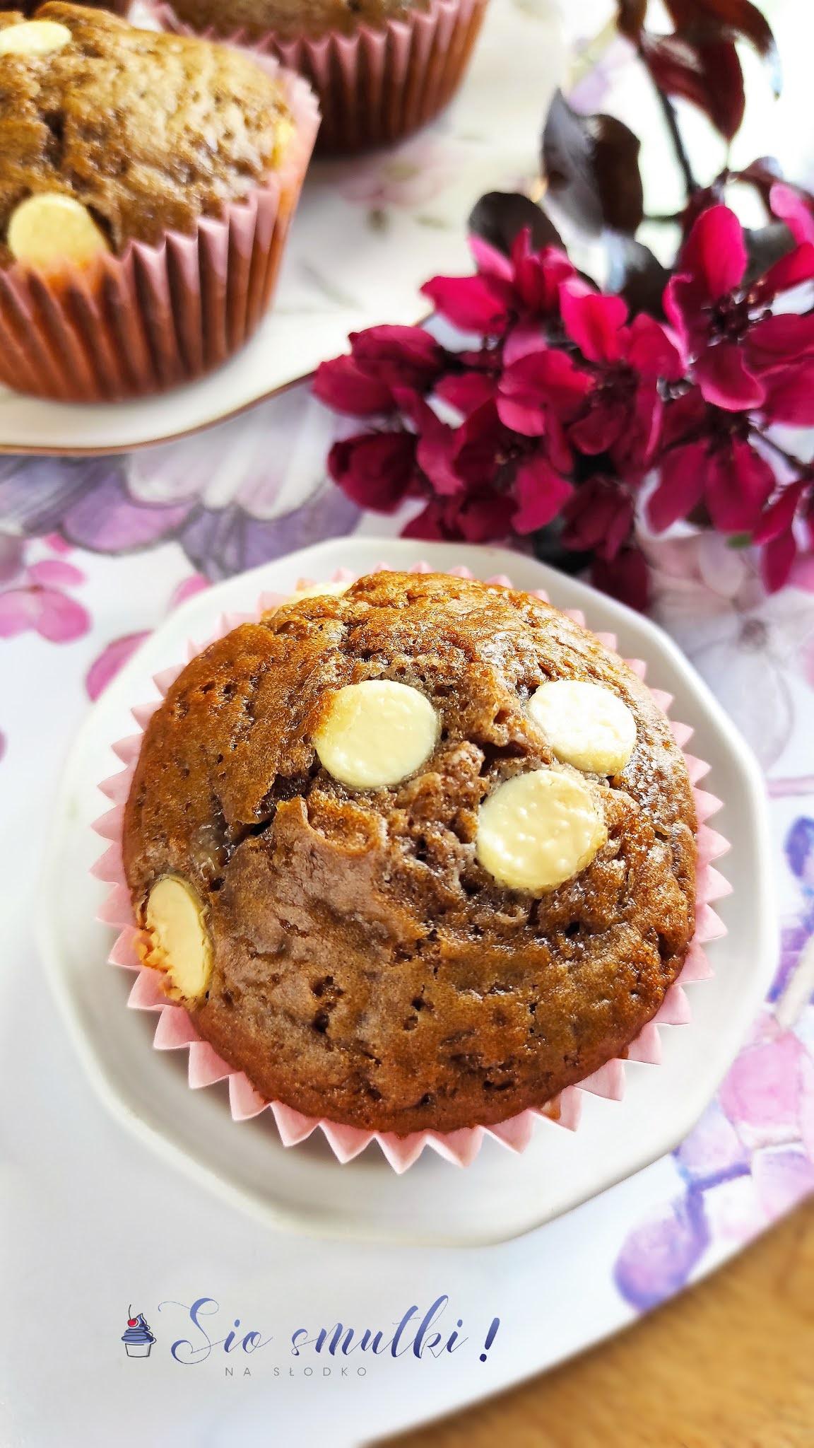 Muffiny z kawą inką i białą czekoladą
